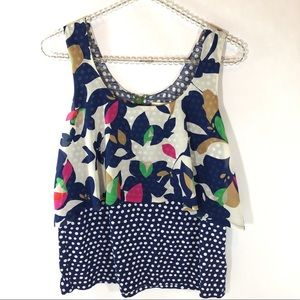 Anthropologie Meadow Rue Blouse Dot Floral XS